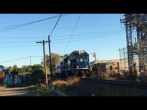 MetroNorth commuter train arriving in Danbury CT at 5:05 10-18-17