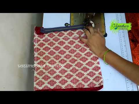 How To Make Hand Purse With Jute Cloth || How to Sew Hand Pouch/Purse With Old Cloth At Home