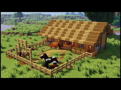 Minecraft:  How to Build a Horse Stable