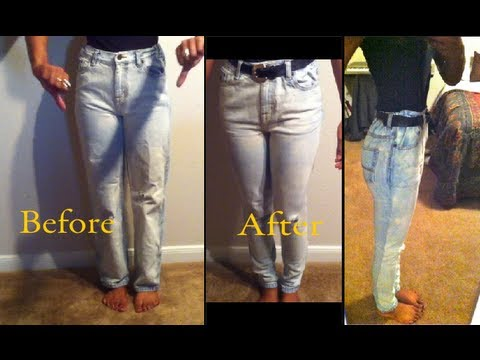 DIY: High waisted skinny jeans
