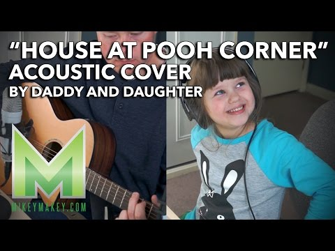 Daddy and 5yr Old Daughter Cover House at Pooh Corner