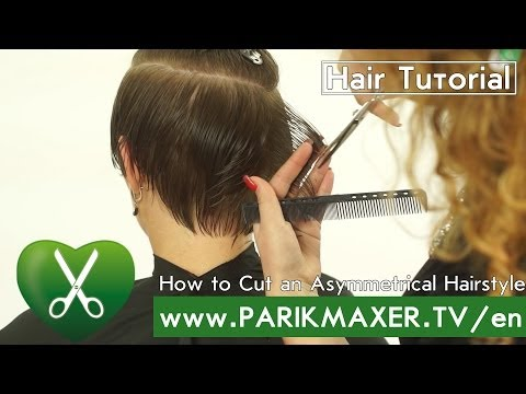 How to cut an Asymmetrical Hairstyle. Inna Serbin parikmaxer tv english version