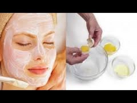 DIY - USE A EGG Mask To TIGHTEN AND CLEAR SKIN Naturally