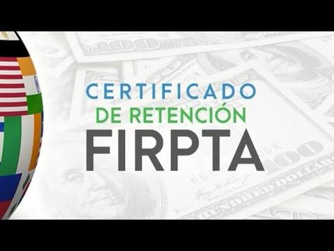 FIRPTA Certificado de Retención de Impuestos Bienes Raíces