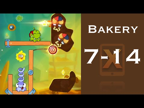 Cut the Rope 2 Walkthrough - Bakery 7-14 - 3 Stars + Medal