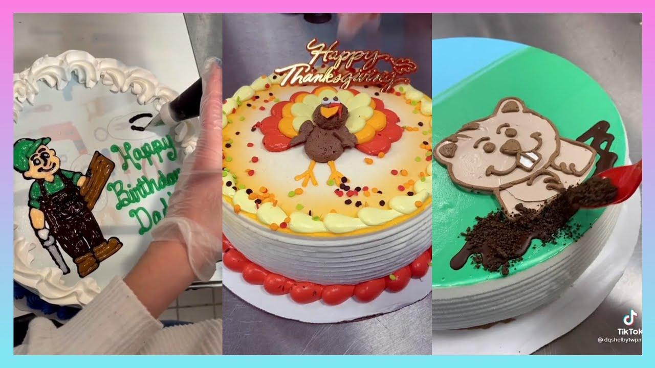 Dairy Queen Cake Decorating   Tiktok Compilation