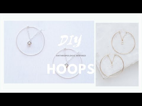 DIY Easy Rhinestone Earrings | Anthropologie Inspired
