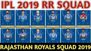IPL 2019 Rajasthan Royals Team Squad   RR Confirmed And Final Team Squad 2019   RR Players List 2019