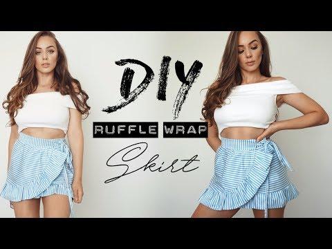 How to make Ruffle Wrap Skirt / NO! BASIC PATTERN USE !| Tijana Arsenijevic