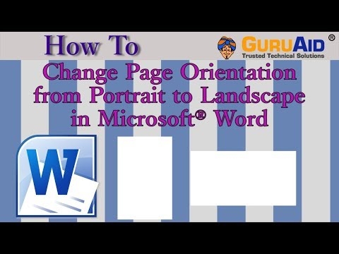 How to Change Page Orientation from Portrait to Landscape in Microsoft® Word - GuruAid