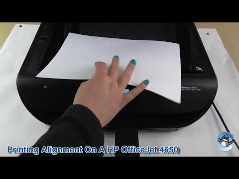 How to print an alignment on a HP OfficeJet 4650
