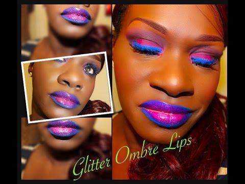 Sexy Lip Tutorial: Glitter Ombre Lips