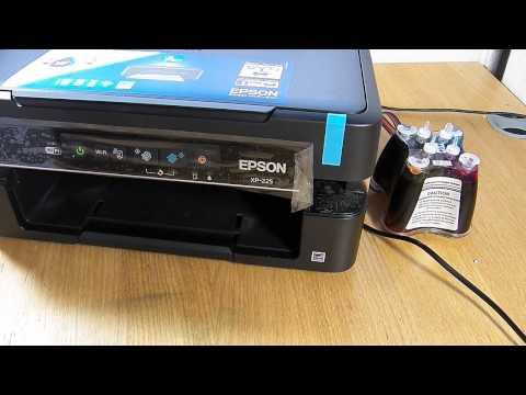 Ciss continuous ink system fits Epson XP-222. XP-225 printer
