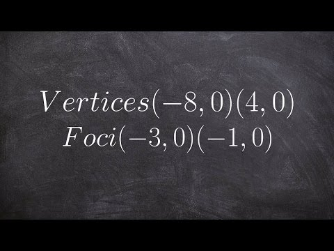How to write the equation of an ellipse given the vertices and foci