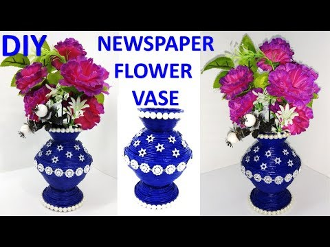 DIY || How to make Newspaper flower vase || Best out of waste