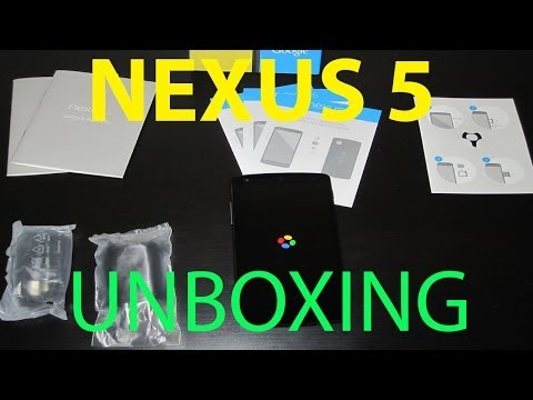 Unboxing of Google Nexus 5 (Black)