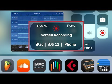 How to record iPad screen with audio iOS 11 ~ Depeche Mode tunes demo ~ Korg Gadget tutorial