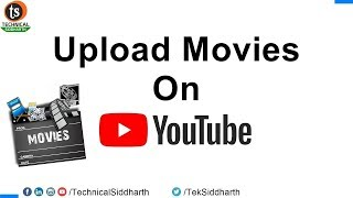 Download How to Upload Movies in without copyright strike issue | Technical Siddharth Video
