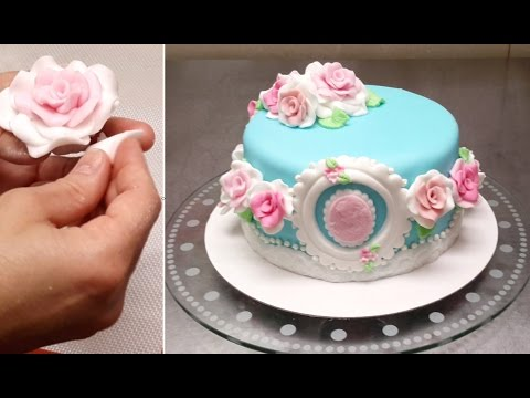How to make Fondant Roses by Cakes StepbyStep