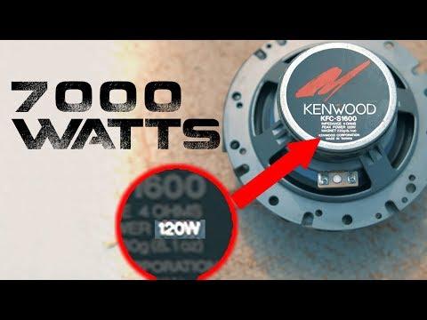 7000 WATTS To Kenwood Door Speakers ?!