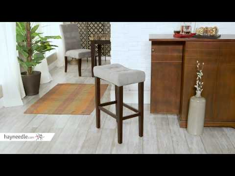 Palazzo 29 in. Saddle Stool - Grey - Product Review Video