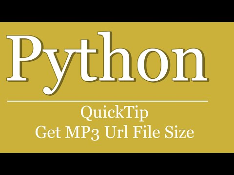 QuickTip #224 - Python Requests Tutorial - Get Url File Size