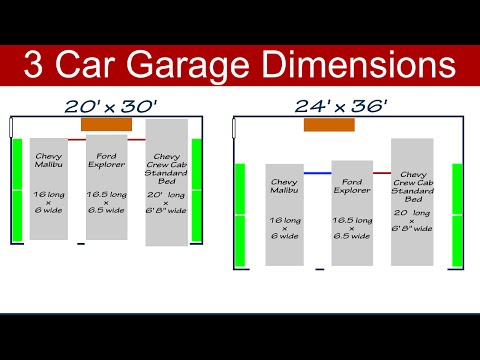 Ideal 3 Car Garage Dimensions