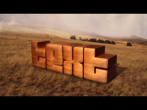 Photoshop Tutorial | Stylish 3d Wooden Text Effect
