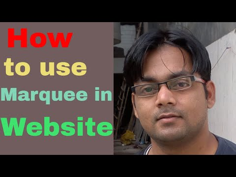 How to use Marquee in website
