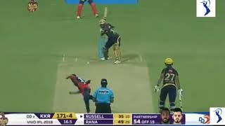 Russel 41 runs on 12 balls | KKK vs DD vivo IPL 2018
