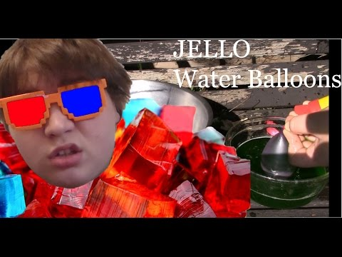 Filling water balloons will Jello