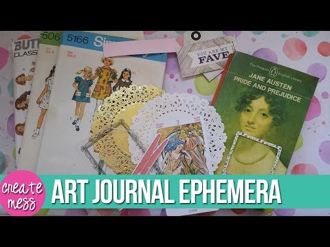 13 Easy Ephemera Ideas for Art Journaling