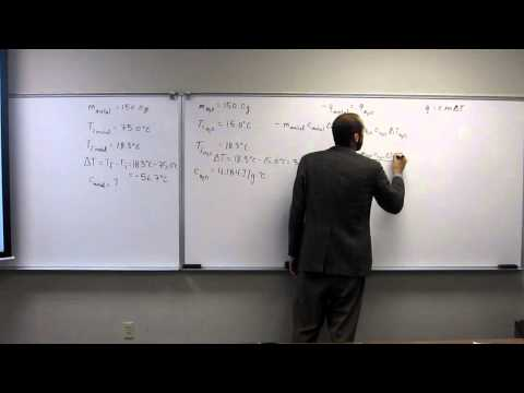 Coffee Cup Calorimetry - Calculate Specific Heat Capacity of Metal 002