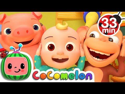 Head Shoulders Knees and Toes | + More Nursery Rhymes & Kids Songs - ABCkidTV