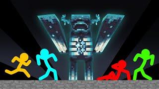 Stickman VS Minecraft: Warden Survival - AVM Shorts Animation