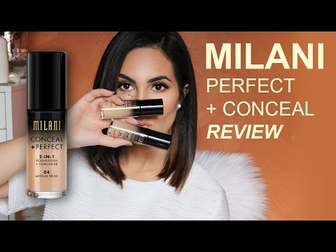 Milani Conceal + Perfect 2-IN-1 Foundation + Concealer { REVIEW AND DEMO } | Elle Levi