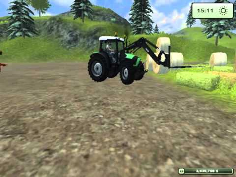 Farming Simulator 2013 - How To - Feeding And Bedding Cows