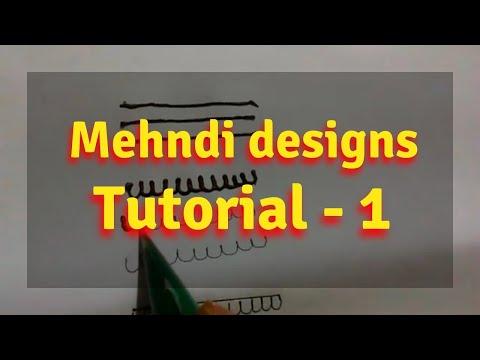 Learn mehndi basic design step by step for beginner-Tutorial 1