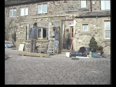 Fitting sawn stone mullions and cills