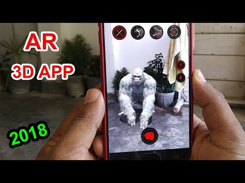 Top 1 Best Augmented  Reality 3D APP 2018 [ Hindi ] ( new AR app )