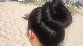Sexy Sweet Long Hair Brunette Saray Bikini Shoot