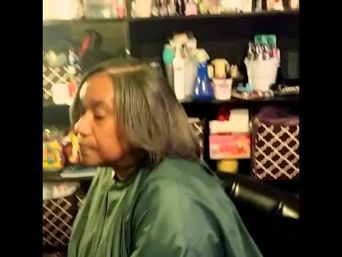Relaxed hair for older women part3