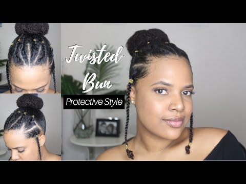 Twisted/Braided Bun Protective Style