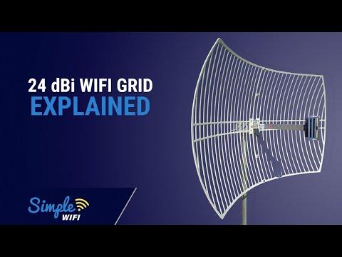 24dBi Parabolic Grid - 2.4GHz Long Range WiFi Antenna Updated 2016/2017