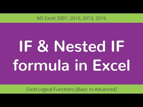 Excel Logical functions: IF & Nested IF in Excel [Basic to Advanced]