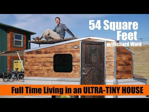 This FULL TIME tiny house is only 54 Square Feet!