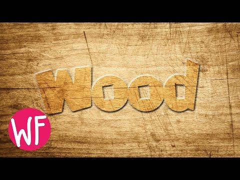 Photoshop Tutorial | Wood Text Effect Photoshop