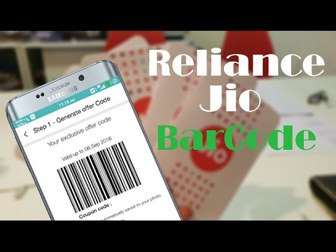 How to Generate Reliance Jio Barcode on Any Android Phone Valid up to 31st March