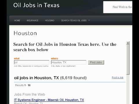Oil Jobs Houston Tx