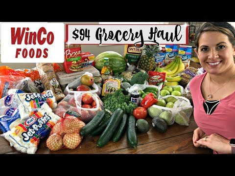 $94 WEEKLY GROCERY HAUL :: FAMILY OF 5 :: WINCO HAUL 2018